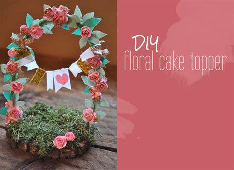 diy floral cake topper green wedding shoes wedding blog