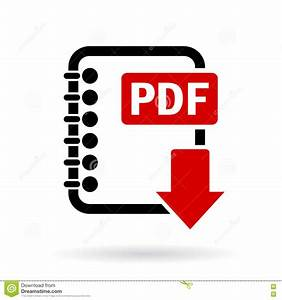 Pdf file download icon stock vector. Illustration of ...