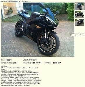 Moto 50cc Occasion Le Bon Coin : un motard vend sa moto ou sa femme au choix sur le bon coin moto journal ~ Medecine-chirurgie-esthetiques.com Avis de Voitures