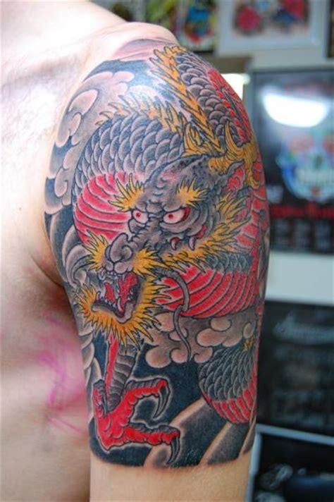 tatouage epaule japonais dragon par illsynapse