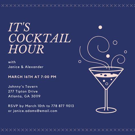 happy hour invitation templates canva