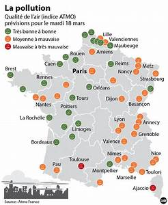 Carte France Pollution : vid o pollution nette am lioration de la qualit de l 39 air pr vue mardi le point ~ Medecine-chirurgie-esthetiques.com Avis de Voitures