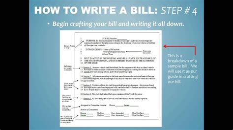 How To Write A by How To Write A Bill For Jya
