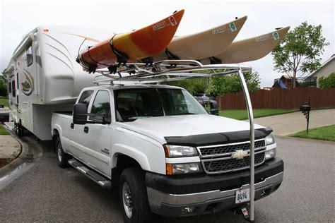 kayak truck rack custom aluminum kayak rack for a chevy truck ryderracks