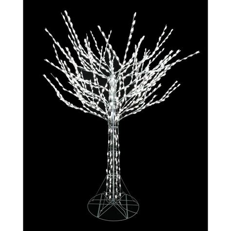 home depot winterberry outdoorlit tree home accents 8 ft led pre lit bare branch tree