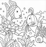 Fish Coloring Pages sketch template