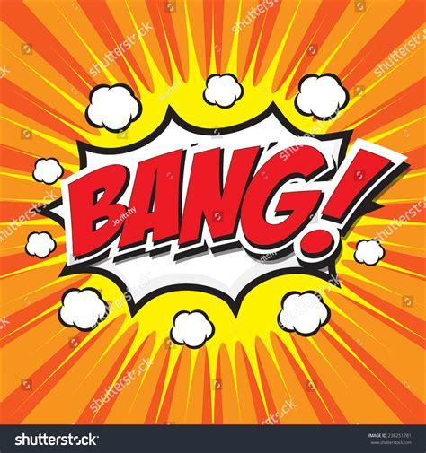 Bang Wording Sound Effect Set Design For Comic Background