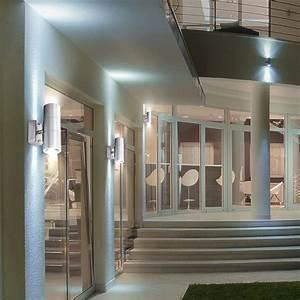 Lampen Für Terrasse : led wandleuchte aus edelstahl f r ihre terrasse 2 flg style lampen m bel au enleuchten ~ Sanjose-hotels-ca.com Haus und Dekorationen