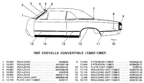 chevelle convertible body side moldings