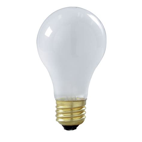 satco s3935 100w 130v a21 frosted e26 base incandescent