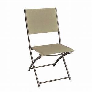 Chaise Pliante De Jardin : chaise pliante en m tal poxy et textil ne achat vente fauteuil jardin chaise pliante dream ~ Teatrodelosmanantiales.com Idées de Décoration