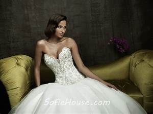 sexy ball gown sweetheart cleavage tulle satin wedding With wedding dress cleavage
