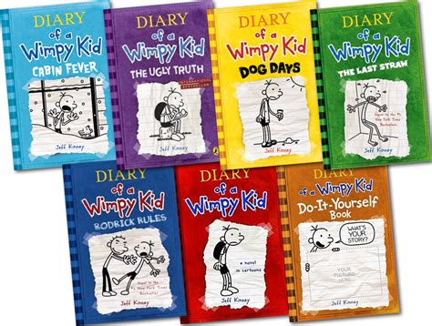 Diary Of A Wimpy Kid Collection 7 Books Set Cabin Fever