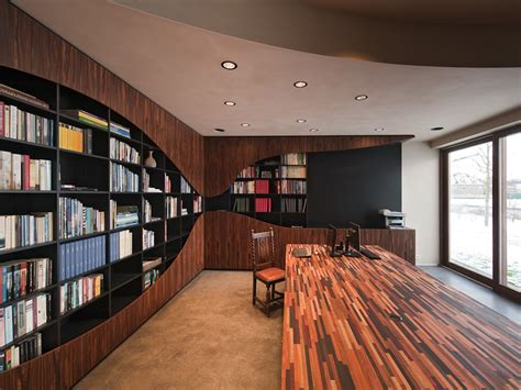home library interior design rounded fixtures library room interior house design4