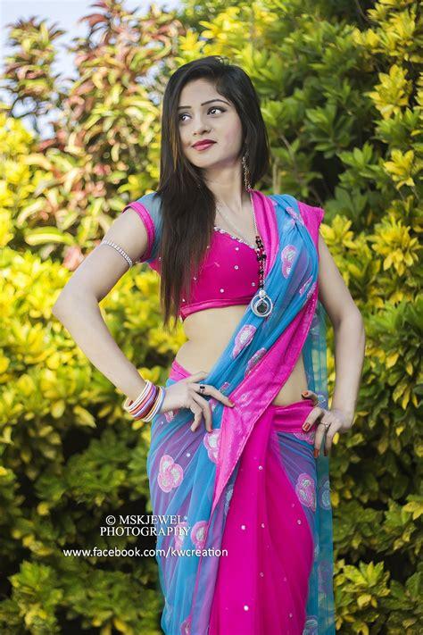indian modelssareered blueroyal  outdoor