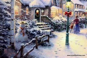 Thomas Kinkade Christmas Backgrounds - Wallpaper Cave