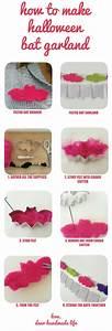 How to make diy halloween bat garland - Dear Handmade Life