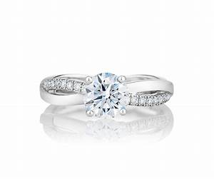 Infinity platinum solitaire engagement ring de beers for Infinity design wedding ring