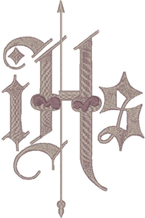 ihs christogrammonogram  embroidery design