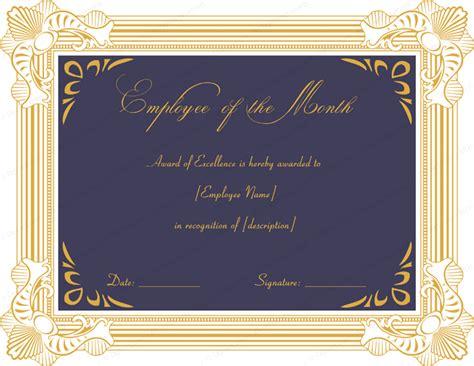 Excellent Employee Performance Award Certificate Designs