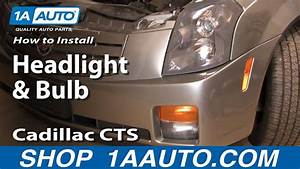 How To Install Replace Change Headlight And Bulb Cadillac