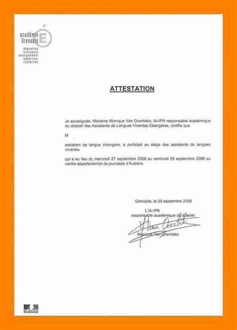 write attestation letter letter signature