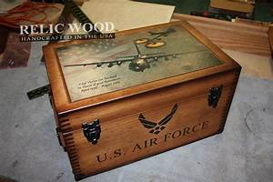 Custom Military Retirement Keepsake Boxes - Relic Wood