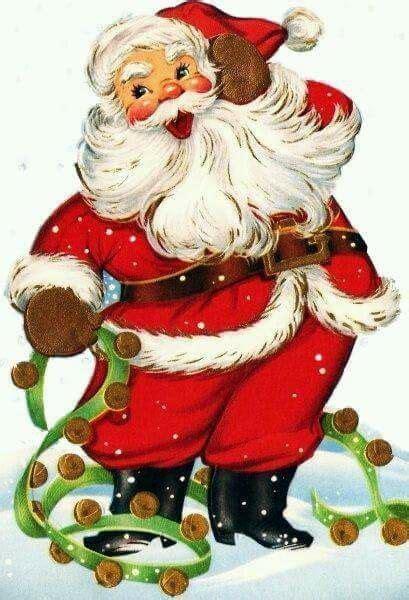 pin  linda mcgowan  santa vintage christmas images