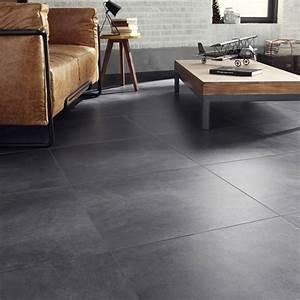 Küchentisch 60 X 60 : carrelage sol et mur gris smoke effet b ton live x cm leroy merlin ~ Markanthonyermac.com Haus und Dekorationen