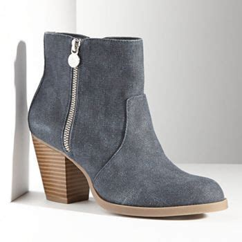 simply vera vera wang canvas ankle boots women kohls