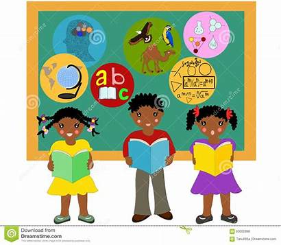 African Clipart American Children Reading Books Kid