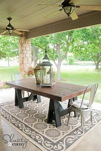 diy table pottery barn inspired shanty 2 chic With barn wood patio table