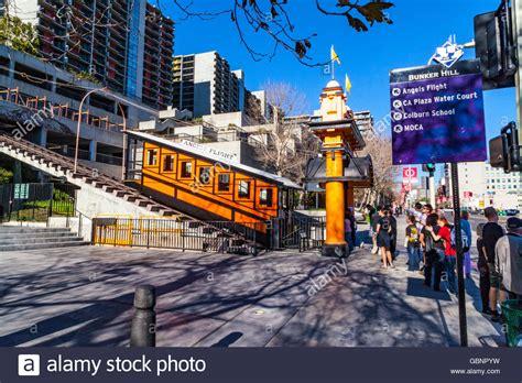 angels flight funicular railway  downtown los angeles