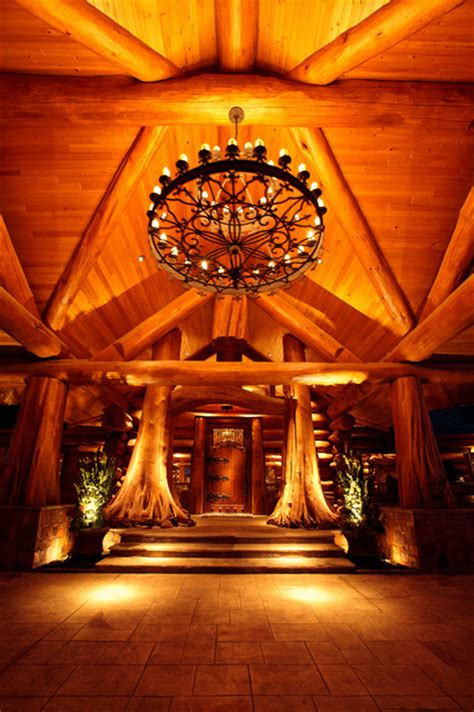 awesome log cabin rustic entry dallas  passion