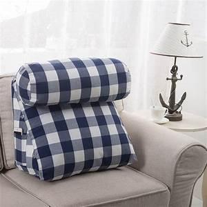 Lumbar support cushion for sofa lumbar support cushions at for Back and neck support for bed