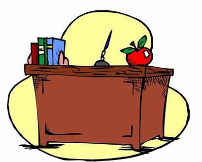 Teacher Teachers Desk Saddle Clipart Chicora Grades