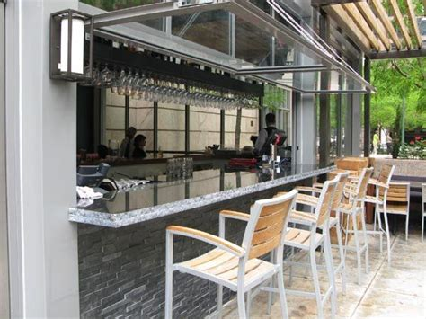 Small Indoor Bar Ideas by Indoor Outdoor Bars Are The New Must For Restaurants