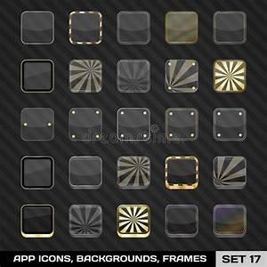 Set Of App Icon Frames, Templates, Backgrounds. Set 17 ...