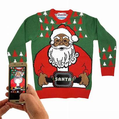 Christmas Jumper Santa Belt Jumpers Unisex Lightup