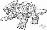 Liger Zoids Coloring Zero Drawing Drawings Printable Template Cartoon Sketch Printablecolouringpages Larger Credit Cool All4 sketch template