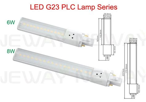 8watts smd g23 2pin in socket led plc light bulb