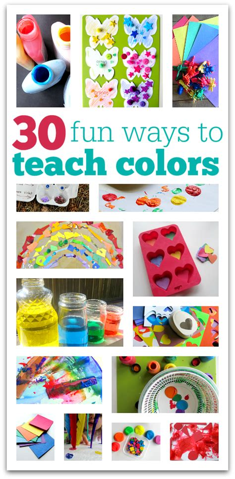 30 ways to teach colors no time for flash cards 867 | teach colors preschool
