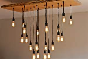 kitchen island chandeliers large live edge maple chandelier with edison bulbs