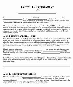 Last will testament template for Printable will and testament