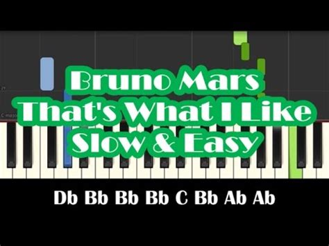 That's What I Like  Bruno Mars  Piano Cover Video By