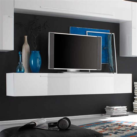 Tv Board Modern by Tv Board Diazaja In Wei 223 Hochglanz H 228 Ngend Pharao24 De