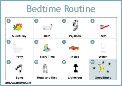 bedtime routine chart 617 | Bedtime Routine for preschoolers