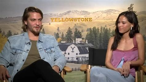 yellowstone cast shares adventures  cowboy camp