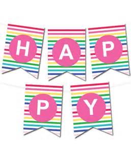 happy stripes pennant banner chicfetti