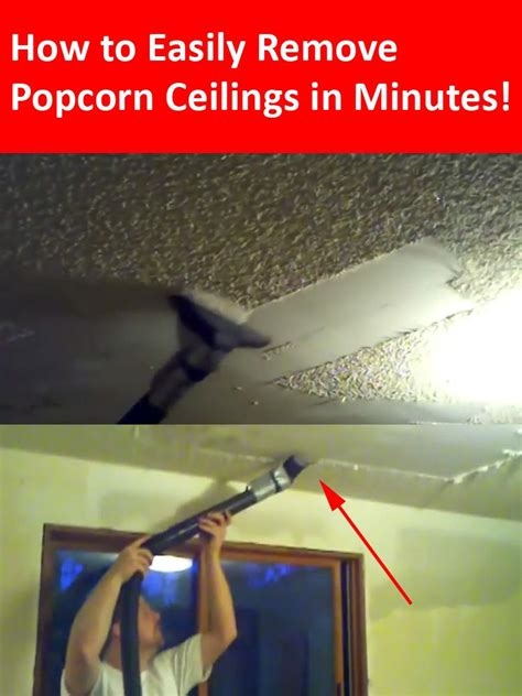 wanted  remove popcorn ceilings   home